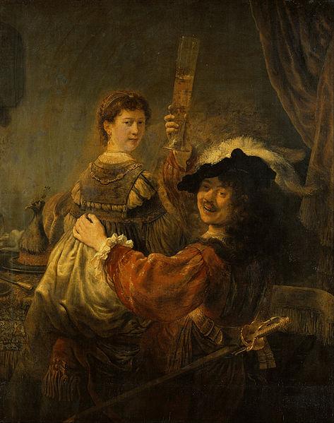 Рембрандт. Автопортрет с Саскией