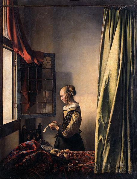 Девушка, читающая письмо у открытого окна, Вермеер