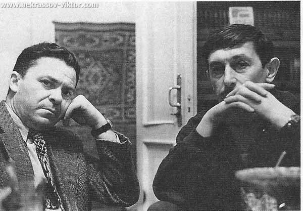 Леонид Волынский и Виктор Некрасов, Москва, 1960-е